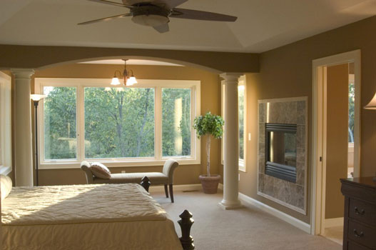 Craftsman two story house plan for House plans with fireplace in master bedroom