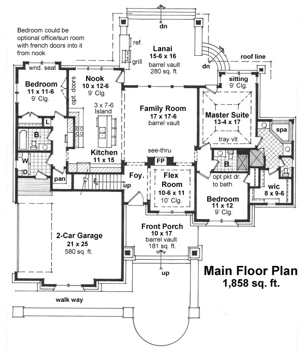 10 x 15 kitchen design huntington 9670 3 bedrooms and 35 baths the house designers