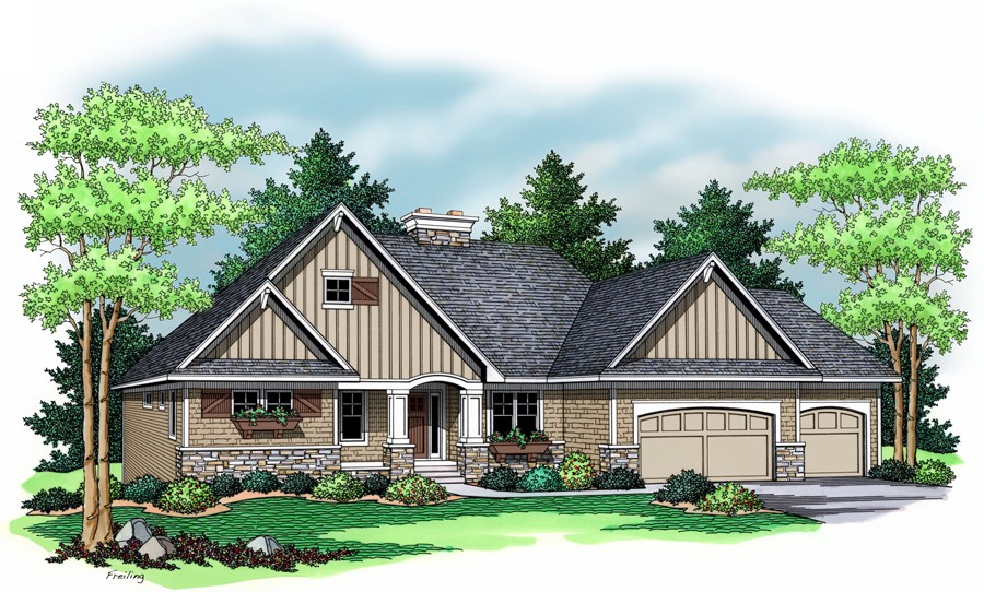 House Plan 9687: The Fairview
