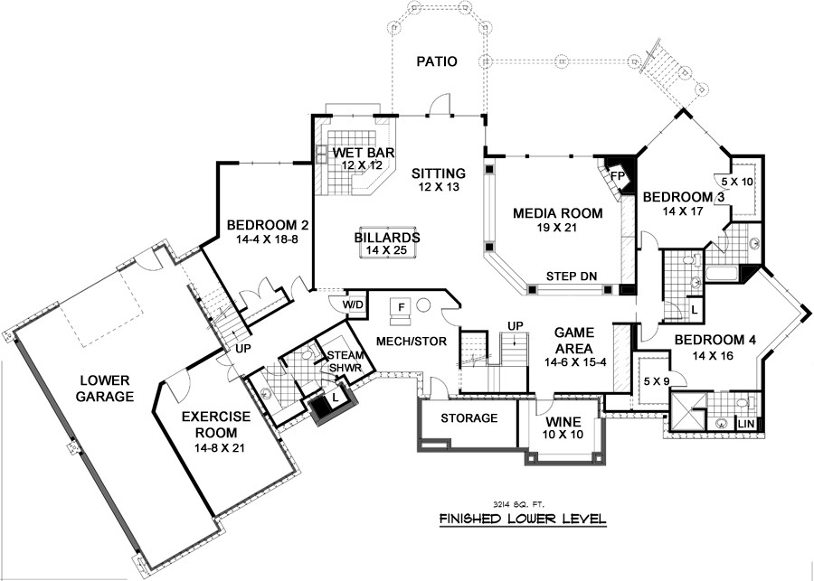 Marvelous Lower Level Floor Plan Home Design Ideas