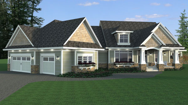 Three bedroom country house plan for Riverside house plans