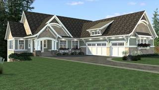 Sloping lot house plans home designs the house designers for Vacation house plans sloped lot