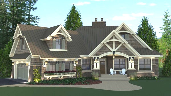 Beautiful Single Story Houses: Three-bedroom Cottage House Plan