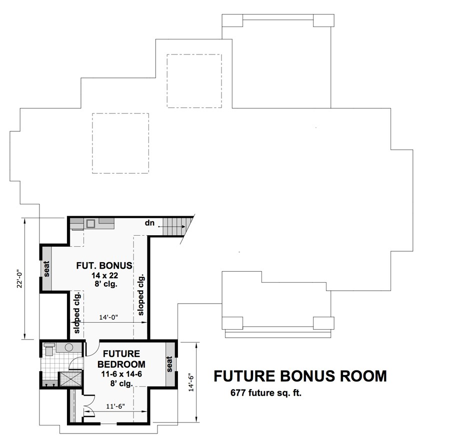 Four Bedroom Cottage House Plan