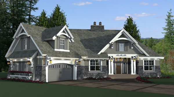 Four bedroom cottage house plan for Four bedroom cottage house plans