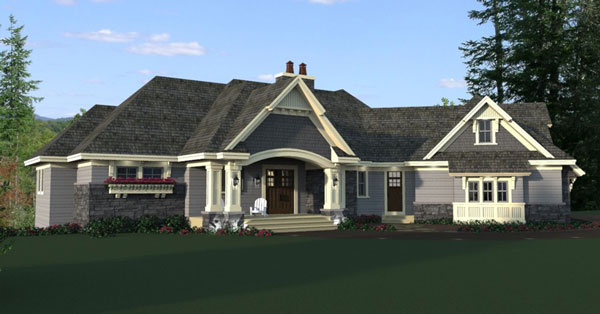 One story cottage house plan for Brand new house plans