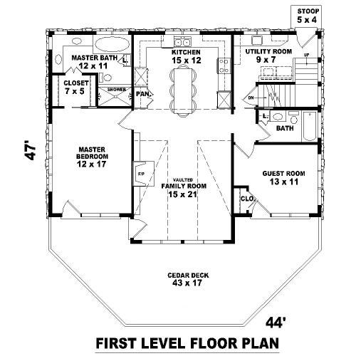 3 Story Open Mountain House Floor Plan: Mountain Home 8115 - 3 Bedrooms And 3.5 Baths