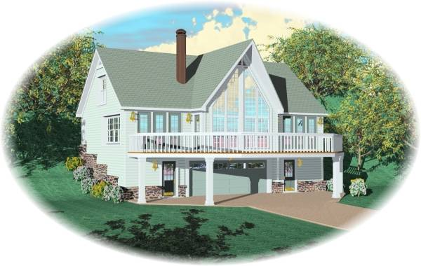 Front Elevation With Basement : Mountain home bedrooms and baths the house