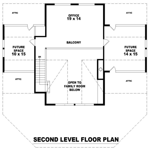 2nd Level image of Hillside Escape House Plan