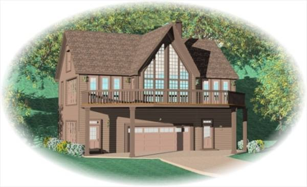 Hillside escape 8490 2 bedrooms and 2 5 baths the for Hillside garage plans