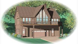 Drive under house plans ranch style garage home design thd for Hillside house plans with garage underneath