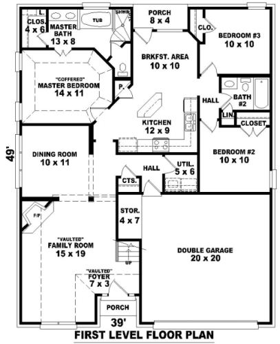 1st Level image of Rockwell House Plan