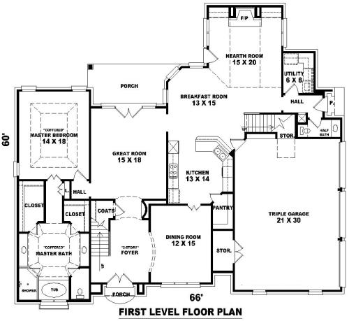 French dream 8149 4 bedrooms and 3 baths the house for Dream floor plans