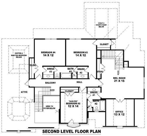 French dream 8149 4 bedrooms and 3 baths the house for Dream house blueprints