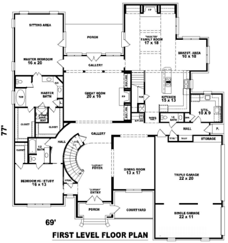 French inspired 8163 5 bedrooms and 4 baths the house for 5 bedroom house plans 2 story