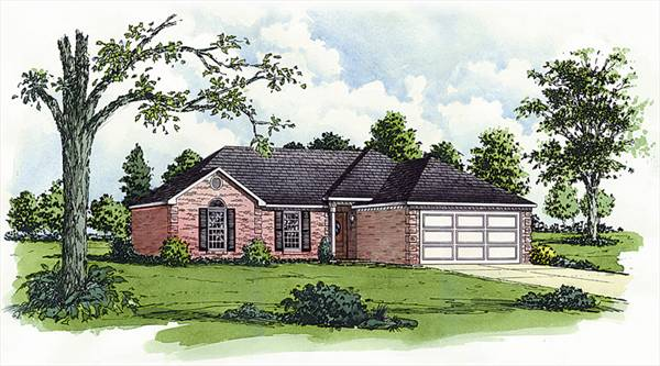 Modest french country 9155 3 bedrooms and 2 5 baths for Modest home plans