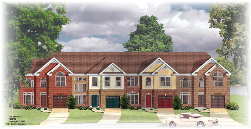 New home designs trending this 2015 the house designers for 4 unit townhouse plans