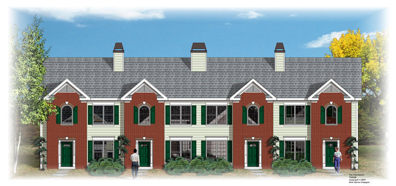 4 unit townhouse 9127 3 bedrooms and 2 baths the house for 4 unit townhouse plans