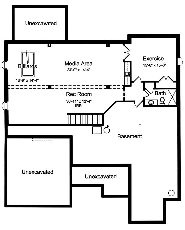 Optional Finished Basement Plan