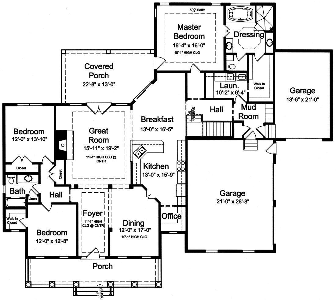 cecelia 9096 3 bedrooms and 2 5 baths the house designers 13911 | 1stfloor 17