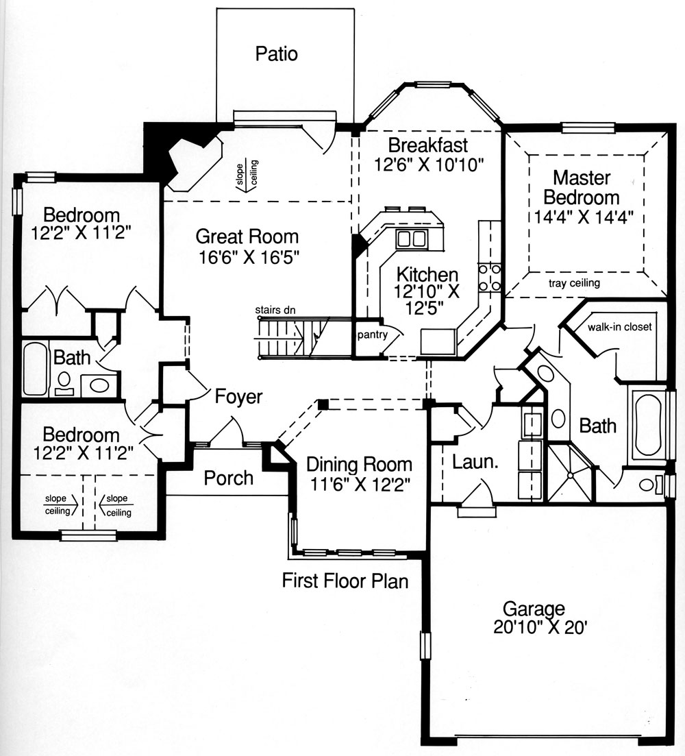 Carrington 9084 3 bedrooms and 2 5 baths the house Residential building plans