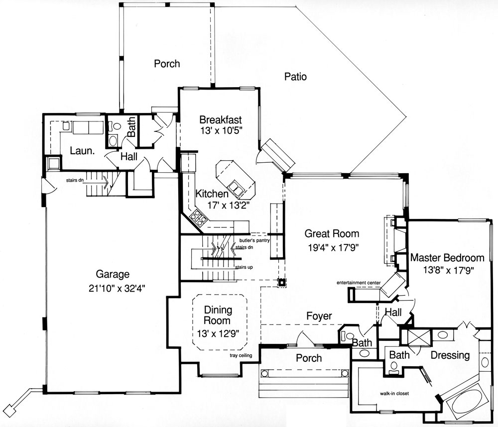Coventry 9088 4 bedrooms and 2 baths the house designers for Coventry plan