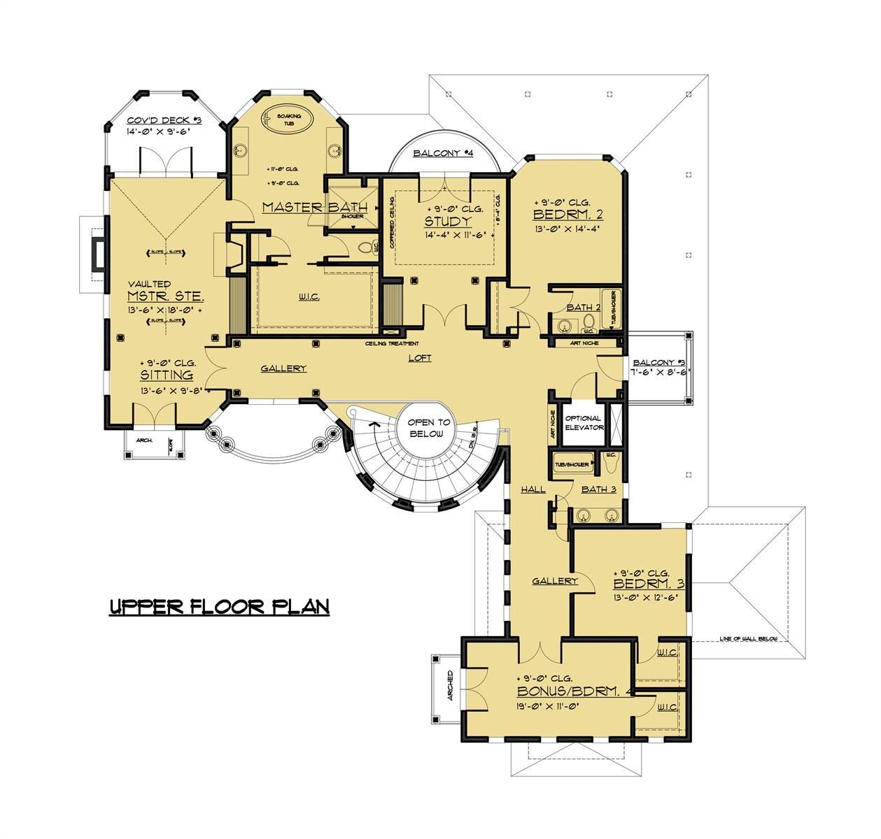 Luxury 3-Story Victorian Style House Plan 1458: Atherton