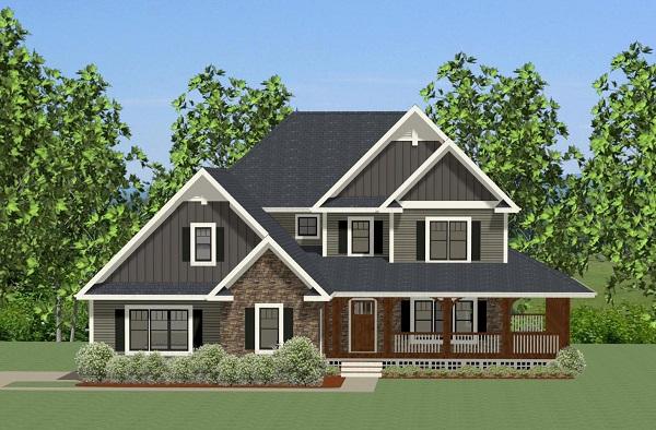 Craftsman House Plan With Wrap Around Porch