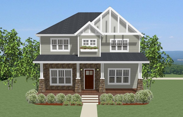 craftsman house plan perfect for narrow lot on narrow townhouse plans, small house with garage, house with side load garage, narrow lot modern house design, side entry garage, narrow hillside house plans, modular home plans with garage, narrow lot landscaping, narrow 3 story house, narrow width floor plans, spanish style home front garage, tri-level front garage, narrow houses with front porches, narrow row house floor plans, narrow pergola for front porch, narrow urban row house plans, modern house garage, curb appeal with front garage, rancher house plans side garage, narrow house layout,