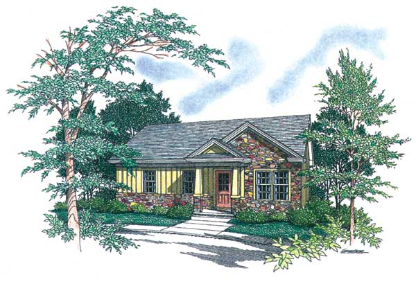 Affordable country 1511 2 bedrooms and 1 5 baths the for Affordable country house plans