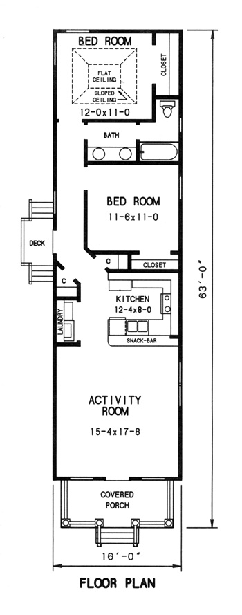 Narrow Lot Cottage 7721 - 2 Bedrooms and 1.5 Baths | The