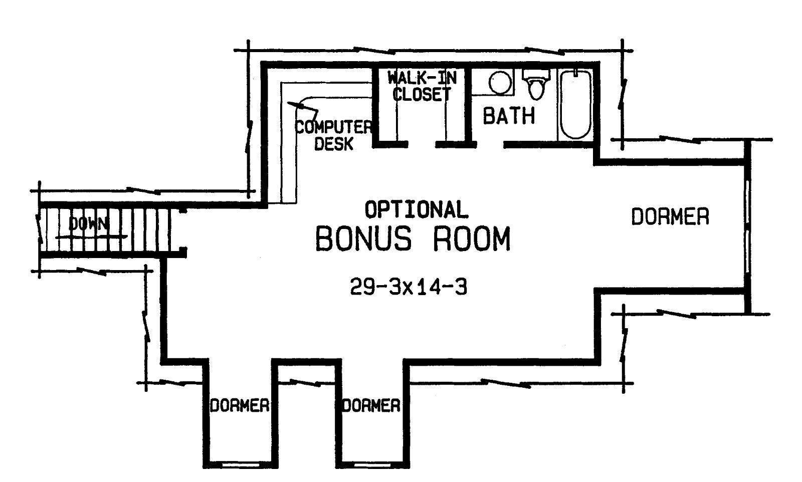 20 harmonious house plans with bonus room house plans for Rambler floor plans with bonus room