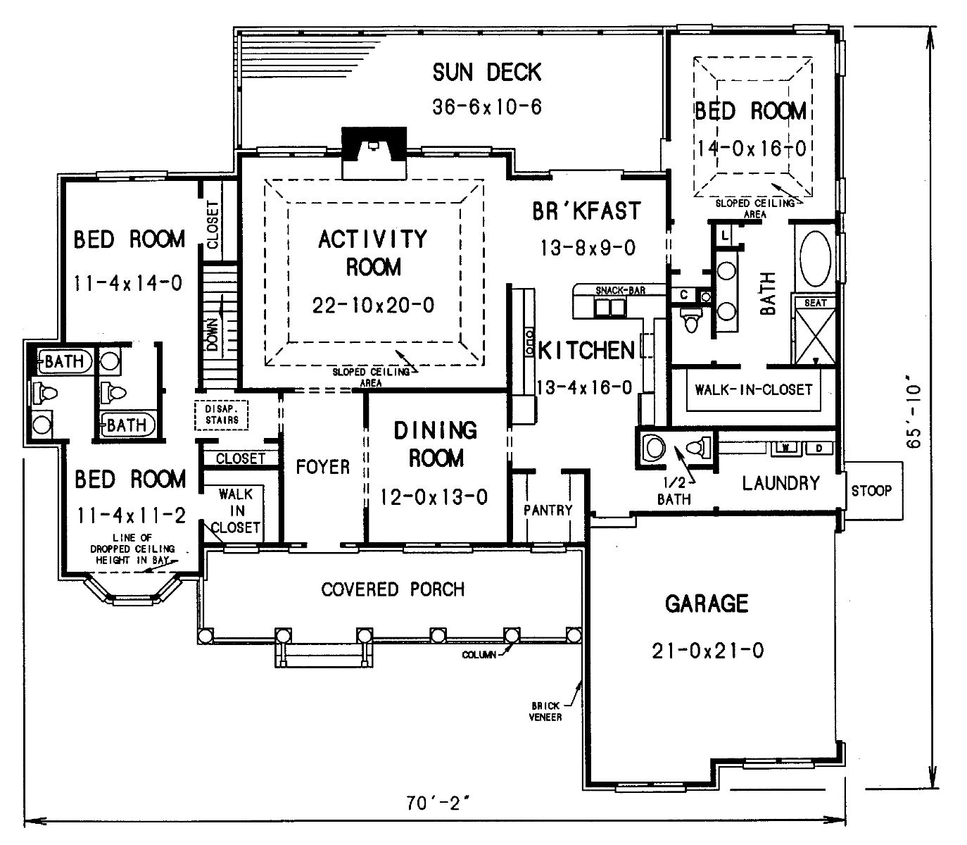 The partee 4376 3 bedrooms and 3 baths the house designers House blueprints free
