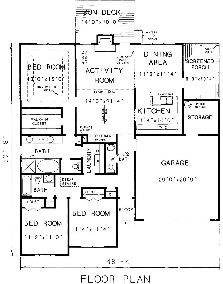 1st floor plan. The Carrollton 3298   3 Bedrooms and 2 Baths   The House Designers