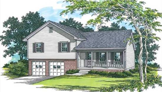 image of Split Level Traditional House Plan