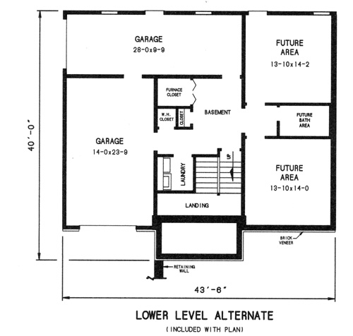 alternate lower level plan