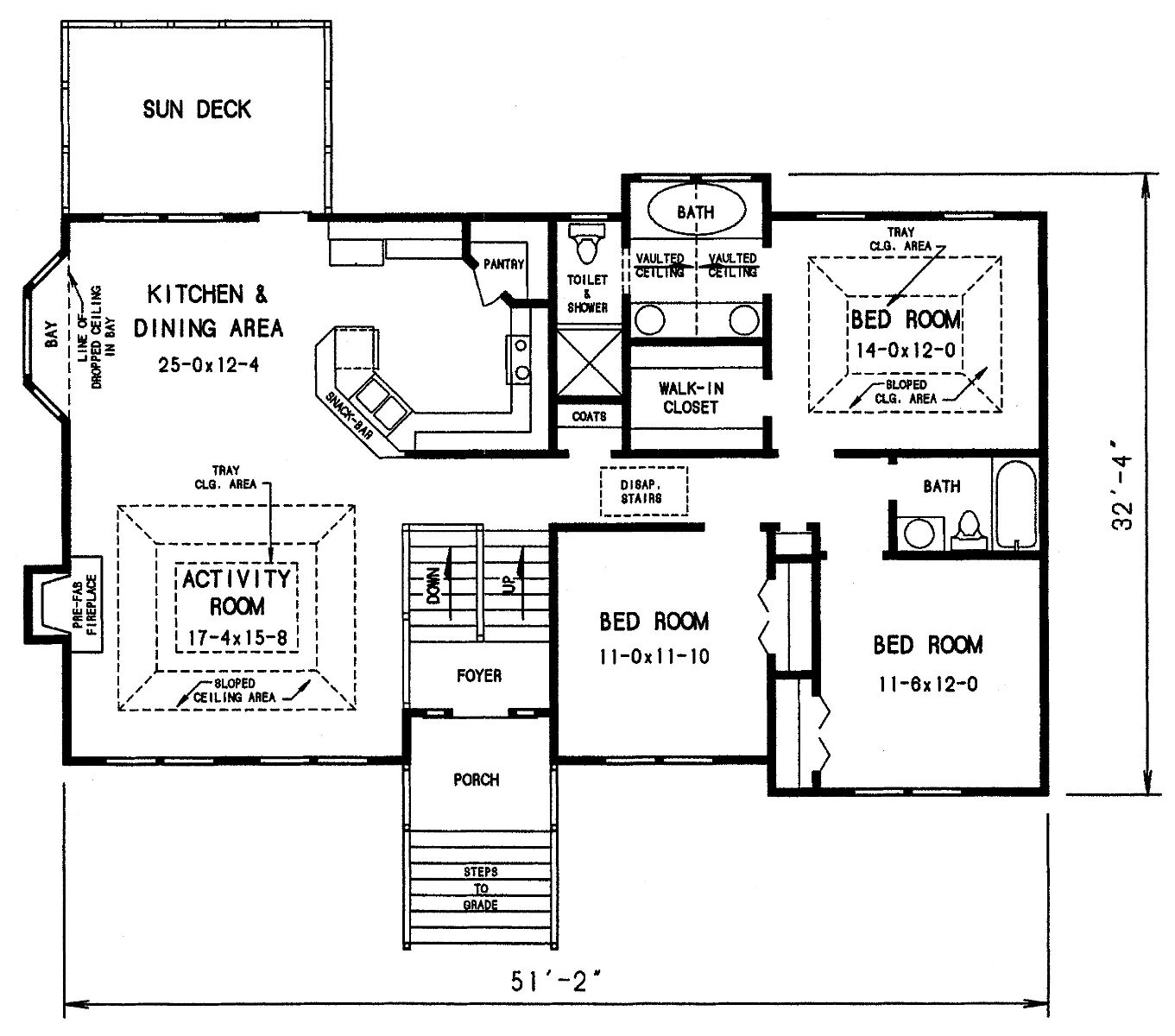 The dahlonega 3303 3 bedrooms and 2 baths the house for Split foyer house designs