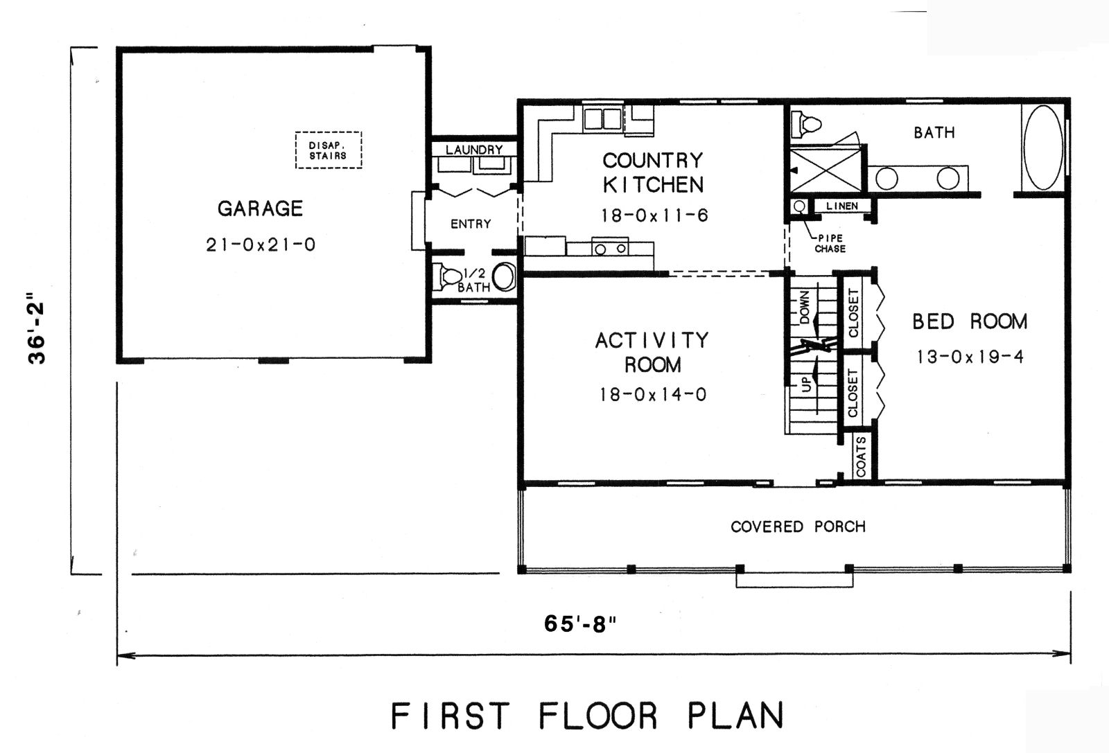 The lynnville 3569 3 bedrooms and 2 baths the house for Small house plans with master bedroom on first floor