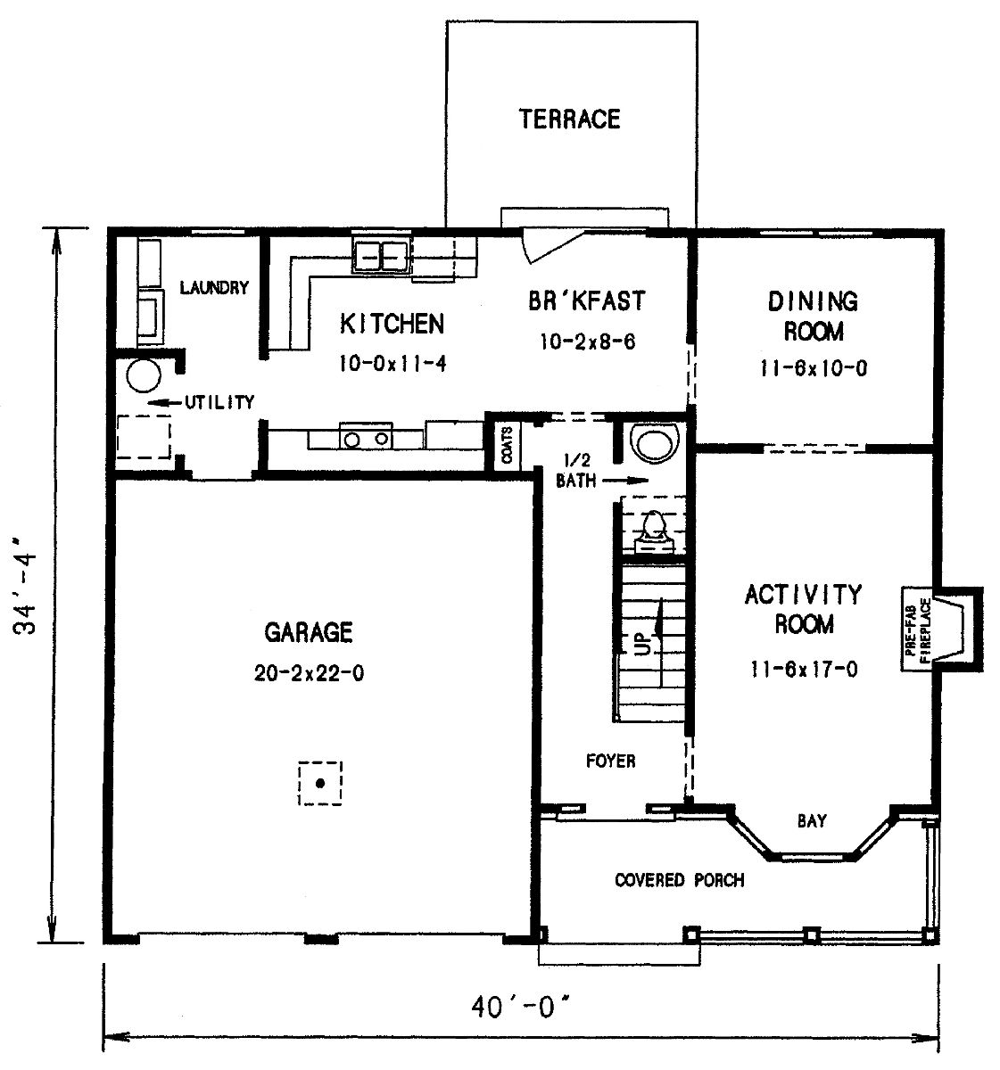 The bethton 3684 3 bedrooms and 2 baths the house for First floor house plan