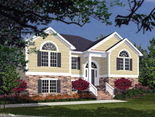 Landscape plans for split foyer home house plans home for Split foyer house designs