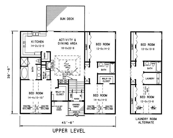upper level plan image of Plan THD-WDF-7744
