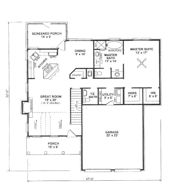 First Floor Plan image of Plan THD-WME-5924