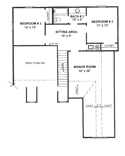 Second Floor Plan image of Plan THD-WME-5924
