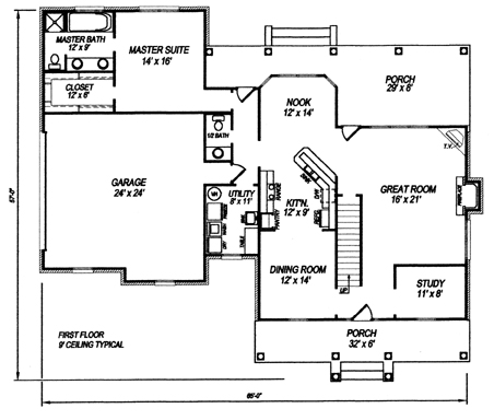 First Floor Plan image of Plan THD-WME-5933
