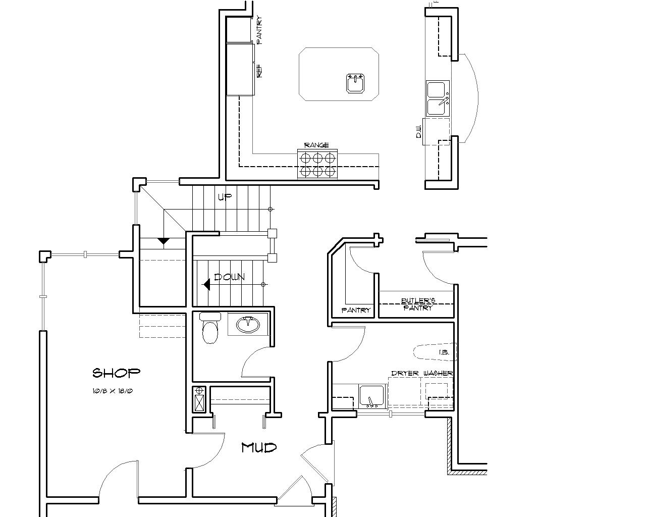Basement Stair Location image of Farnsworth House Plan