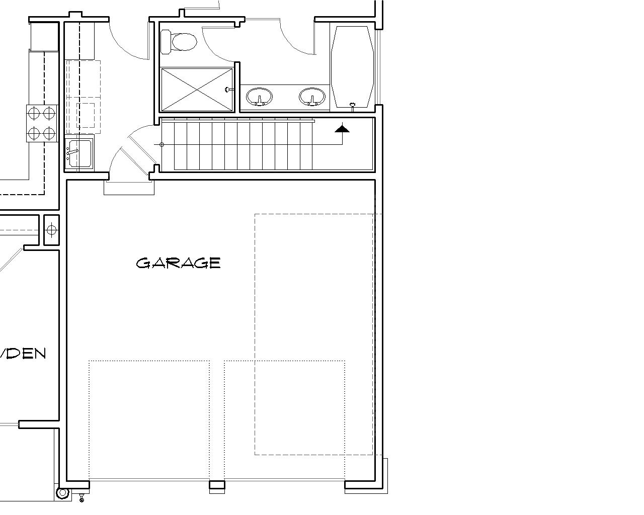 Basement Stair Location image of Godfrey House Plan