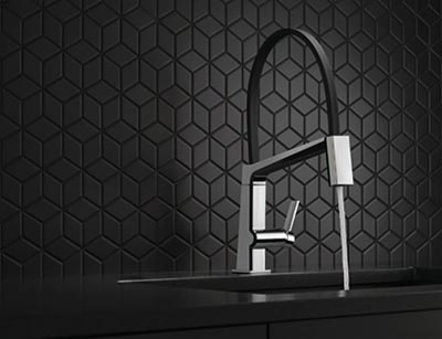 A Dynamic Faucet with Strong Clean Lines