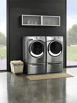 Whirlpool® 4.3 cu. ft. Duet® Steam Front Load Washer and Dryer