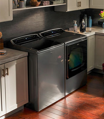 8. A Smart Washer and Dryer Set