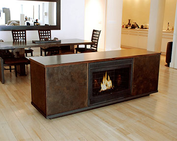 9. An Eco-Friendly Ventless Fireplace